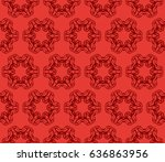 decorative floral ornament.... | Shutterstock .eps vector #636863956