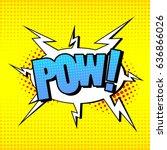 illustration comic. style pop... | Shutterstock .eps vector #636866026