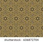decorative floral ornament.... | Shutterstock .eps vector #636872704