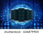 3d rendering database storage... | Shutterstock . vector #636879904