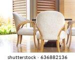modern living room design with... | Shutterstock . vector #636882136