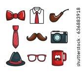 objects for men set | Shutterstock .eps vector #636883918