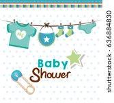 baby shower card | Shutterstock .eps vector #636884830