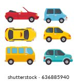 set of vehicles design | Shutterstock .eps vector #636885940