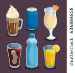 colorful beverages design | Shutterstock .eps vector #636886828