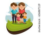 happy family design | Shutterstock .eps vector #636887119