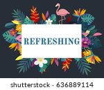 fresh and beautiful flower for...   Shutterstock . vector #636889114