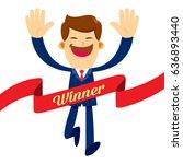 vector stock of a businessman... | Shutterstock .eps vector #636893440