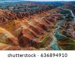 aerial view on the colorful...