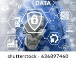 security and insurance data... | Shutterstock . vector #636897460