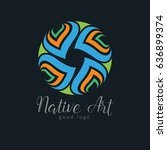 native tribe art circle icon...   Shutterstock .eps vector #636899374