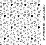 vector seamless hand drawn... | Shutterstock .eps vector #636908380