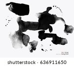 background with ink stains. ink ... | Shutterstock .eps vector #636911650
