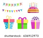 party gift box celebration... | Shutterstock .eps vector #636912973