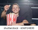 happy young handsome guy... | Shutterstock . vector #636914830