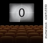 movie theatre background with... | Shutterstock .eps vector #636915550