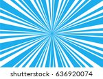 a blue sunburst in vector... | Shutterstock .eps vector #636920074