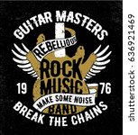 rock music concept vector... | Shutterstock .eps vector #636921469