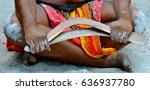 Yugambeh Aboriginal Man Sit An...