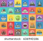 city of indonesia conceptual... | Shutterstock .eps vector #636940186