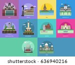 city of indonesia conceptual... | Shutterstock .eps vector #636940216