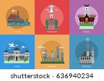 city of indonesia conceptual... | Shutterstock .eps vector #636940234