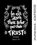 for allah loves those who put... | Shutterstock .eps vector #636950530