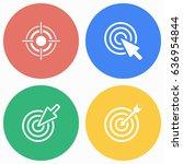 target vector icons set.... | Shutterstock .eps vector #636954844