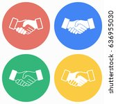 handshake vector icons set.... | Shutterstock .eps vector #636955030