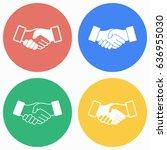 handshake vector icons set.... | Shutterstock .eps vector #636955030