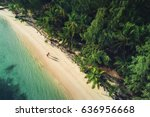 aerial view of tropical island... | Shutterstock . vector #636956668