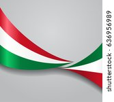 hungarian flag wavy abstract... | Shutterstock .eps vector #636956989