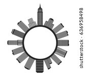 graphic circular city  vector | Shutterstock .eps vector #636958498