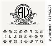 modern emblem  badge  label... | Shutterstock .eps vector #636962179