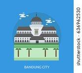 bandung city of indonesia... | Shutterstock .eps vector #636962530