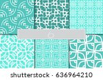 set of 6 seamless geometry... | Shutterstock .eps vector #636964210