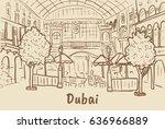hand drawn illustration of... | Shutterstock . vector #636966889