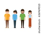 set of style young people in... | Shutterstock .eps vector #636969010