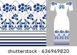 Blue Wildflowers. Party Dress...