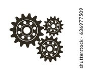 gears on a white background.... | Shutterstock .eps vector #636977509