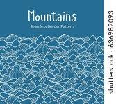 landscape pattern. vector... | Shutterstock .eps vector #636982093