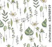 seamless season pattern with... | Shutterstock .eps vector #636988939