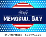 memorial day. | Shutterstock .eps vector #636991198