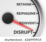disrupt rethink reimagine... | Shutterstock . vector #636995914