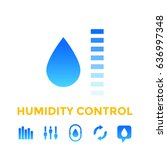 humidity control icons | Shutterstock .eps vector #636997348