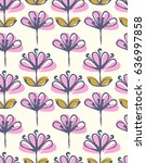 seamless pattern with hand... | Shutterstock .eps vector #636997858