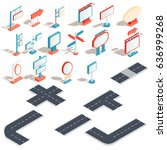 set of vector isometric... | Shutterstock .eps vector #636999268