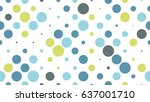 seamless polka dot pattern with ... | Shutterstock .eps vector #637001710