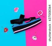 platform trend. stylish shoes...   Shutterstock . vector #637008364