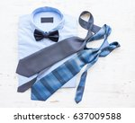 businessman clothes with blue... | Shutterstock . vector #637009588
